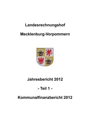 Jahresbericht 2012 - Teil 1 Kommunalfinanzbericht