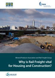 Why is Rail Freight vital for Housing and Construction?