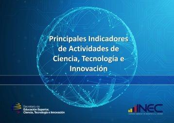 de Actividades de Ciencia Tecnología e Innovación