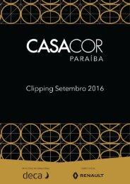 Clipping Casa Cor Paraíba Setembro 2016 - Parte 1