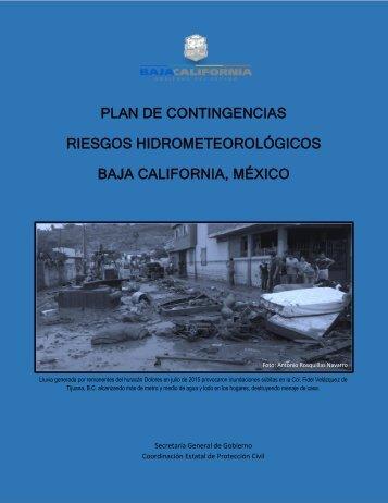 PLAN DE CONTINGENCIAS RIESGOS HIDROMETEOROLÓGICOS BAJA CALIFORNIA MÉXICO