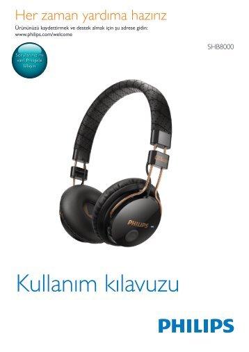 Philips Casque Bluetooth - Mode d'emploi - TUR