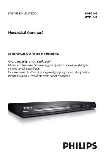 Philips Lecteur de DVD - Mode d'emploi - HUN