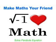 Make Maths Your Friend