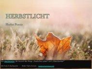 Herbstlicht - Herbst Poesie