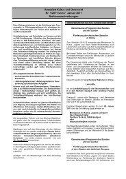 Amtsblatt Kultus und Unterricht Nr. 1/2011 vom 7 ... - Kultusportal