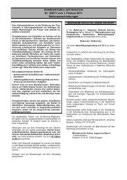 Amtsblatt Kultus und Unterricht Nr. 3/2011 vom 1 ... - Kultusportal