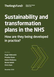 plans in the NHS