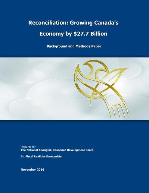 Reconciliation Growing Canada's Economy by $27.7 Billion