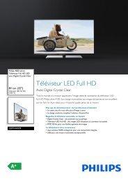 Philips 4000 series Téléviseur LED Full HD - Fiche Produit - FRA