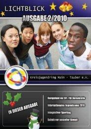 Lichtblick 2010-II - Kreisjugendring des Main-Tauber-Kreis