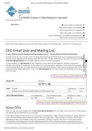 CEO email lists database