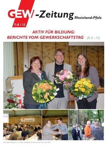 GEW-ZEitUnG Rheinland-Pfalz nr. 7-8 / 2012