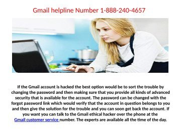 Gmail password recovery number for quick help1-888-521-0120