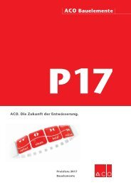 ACO Preisliste Bauelemente 2017