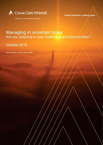 Managing in uncertain times
