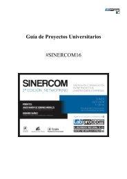 Guía de Proyectos Universitarios #SINERCOM16