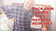 Back Pain Causes, Types and Natural Remedies