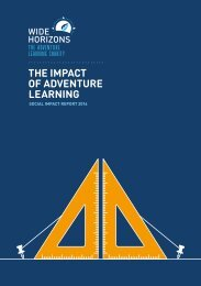 THE IMPACT OF ADVENTURE LEARNING