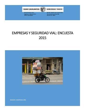 EMPRESAS Y SEGURIDAD VIAL ENCUESTA 2015