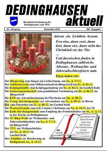 Dedinghausen aktuell 491