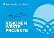 TeachBeyond VISIONEN WERTE PROJEKTE 2016