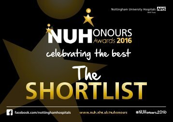 NUH Honours Shortlist 2016