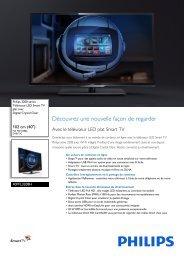 Philips 3200 series Téléviseur LED Smart TV plat - Fiche Produit - FRA