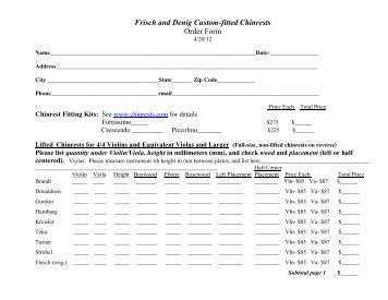 Open Fit Order Form Unitron