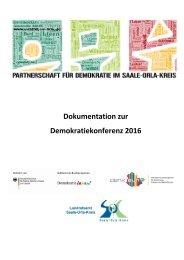 Dokumentation Demokratiekonferenz SOK 2016