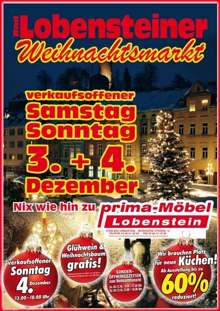 Prima Moebel Lobenstein Weihnachtsmarkt Verkaufsoffener Sonntag 12 2016