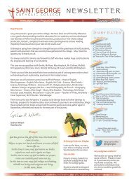 St George Newsletters - Archive