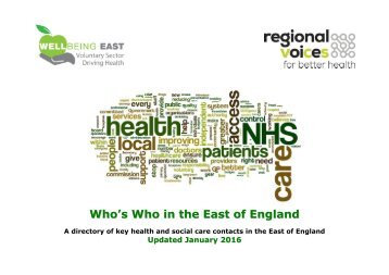 Who's Who in the East of England