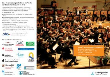 Musik -Konzert gegen Depression Eine Veranstaltung im Rahmen ...