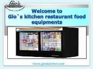 Commercial Kitchen Equipment in Vancouver BC| gioskitchen