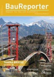 Baureporter Ausgabe 2016 - Magazin für Bau und Architektur