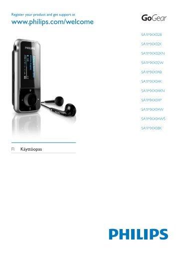 Philips GoGEAR Baladeur MP3 - Mode d'emploi - FIN
