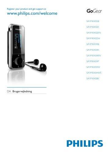 Philips GoGEAR Baladeur MP3 - Mode d'emploi - DAN