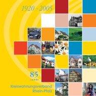 1920 - 2005 85 - Kreiswohnungsverband - Rhein Pfalz