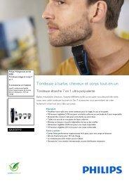 Philips Multigroom series 3000 7-in-1-Ganzkörpertrimmer - Fiche Produit - FRA