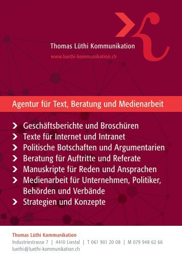 Thomas Lüthi Kommunikation