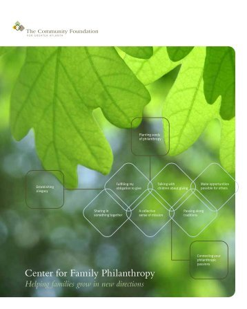 Center for Family Philanthropy guide - The Community Foundation ...
