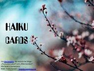 HAIKU CARDS