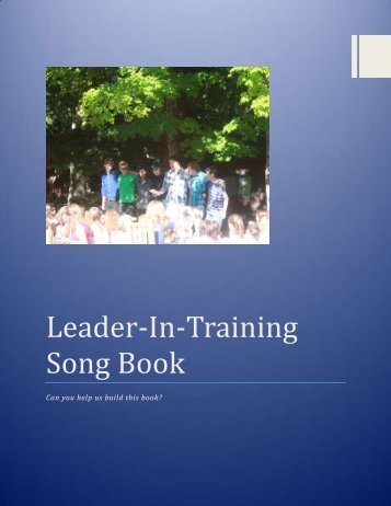 LIT Songbook with cover