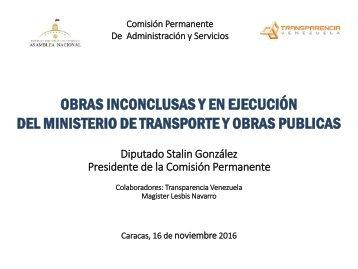 OBRAS INCONCLUSAS Y EN EJECUCIÓN DEL MINISTERIO DE TRANSPORTE Y OBRAS PUBLICAS