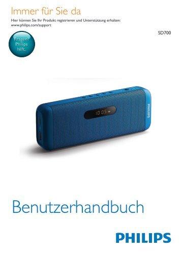 Philips Enceinte portable sans fil - Mode d'emploi - DEU