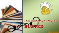 Top Hangover Myths Busted