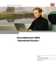 Bild Umweltbericht 2005 - Download-Version -