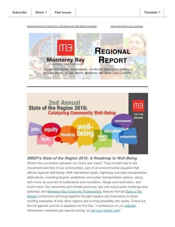 MBEP's State of the Region 2016 A Roadmap to Well-Being