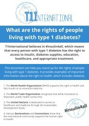 What are the rights of people living with type 1 diabetes?